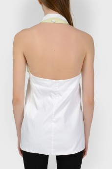 Топ-блуза за шею с открытой спиной с биркой