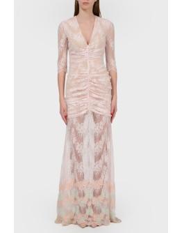Платье из кружева в пудровом цвете с биркой