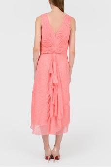 Платье миди кораллового цвета с биркой