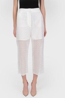 Ажурные укороченные брюки с подкладкой в виде шорт с биркой