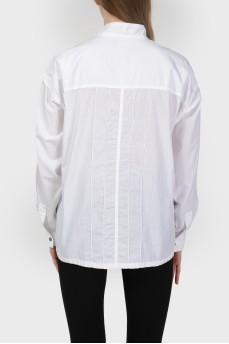 Рубашка с металлическими кнопками с биркой