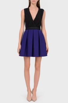 Платье на запах с фиолетовой юбкой