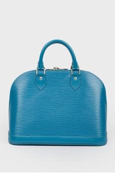 Вместительная сумка бирюзового цвета