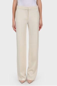 Шелковые классические брюки  со стрелками