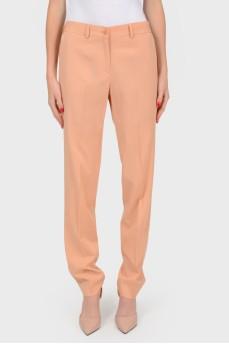 Шерстяные классические брюки со стрелками