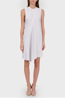 Асимметричное платье без рукавов
