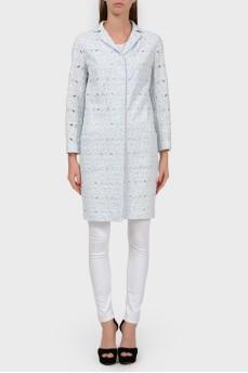 Кружевное пальто с карманами