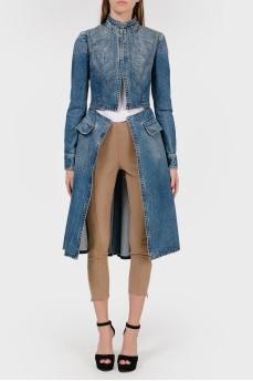 Расклешенное джинсовое пальто