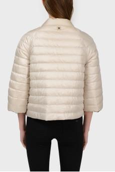 Куртка двусторонняя бежевая и черная