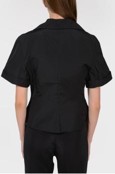 Шелковый пиджак с коротким рукавом