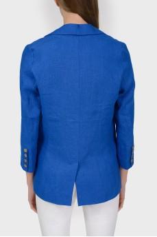 Однобортный пиджак на пуговице с разрезом