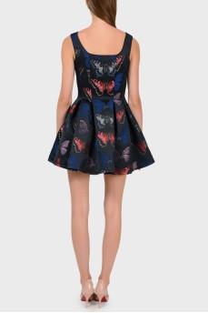 Платье с расклешенной юбкой с бабочками