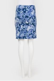Прямая юбка на резинке