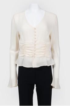 Шелковая блуза на пуговицах