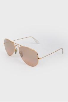 Солнцезащитные очки-авиаторы коричневые