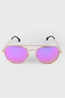 Солнцезащитные очки-авиаторы розовые