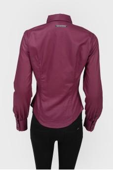 Приталенная блуза на пуговицах