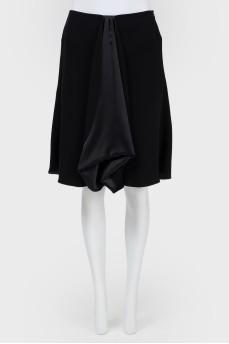 Широкая юбка из шелка