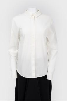 Рубашка с черным бантом сзади