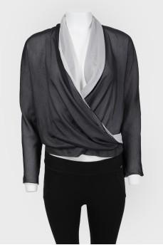 Шелковая блуза на запах