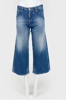 Детские джинсы клеш на пуговицах