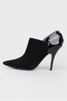 Остроносые замшевые туфли
