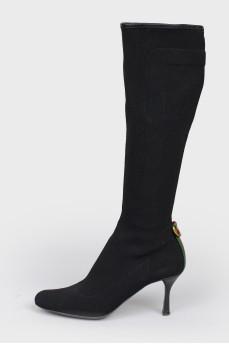 Сапоги текстильные с полукруглым носком