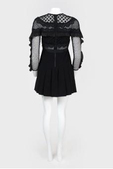 Платье сетчатыми вставками с биркой