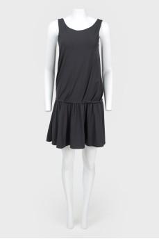 Платье с заниженной талией без рукавов