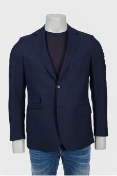 Мужской пиджак с разрезами сзади