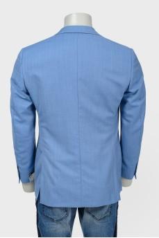 Пиджак голубой с биркой