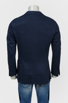 Мужской пиджак с накладными карманами