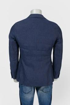 Пиджак на двух пуговицах под металл