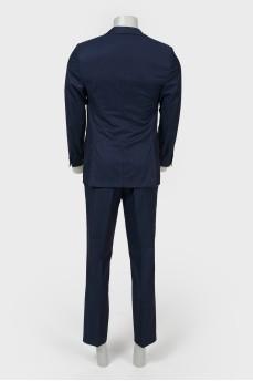 Темно-синий мужской костюм из шерсти