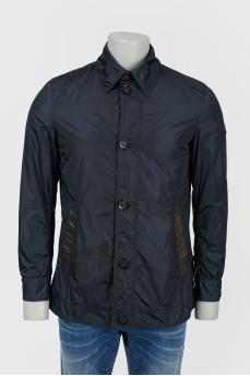 Куртка с кожаными вставками