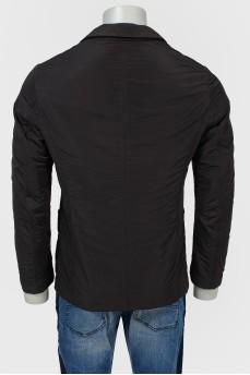 Куртка из плащевой ткани на пуговицах