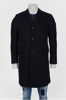 Пальто удлиненное прямого кроя