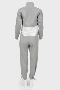 Топ с длинным рукавом и вставкой в виде края рубашки
