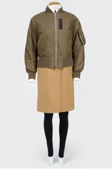 Пальто с бомбером