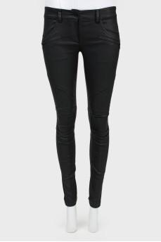Узкие брюки с молниями