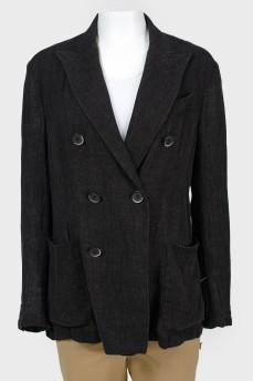 Пиджак меланжевый двубортный