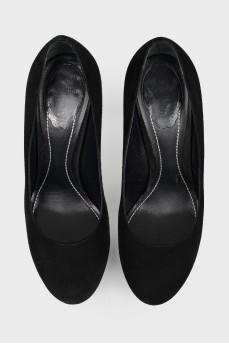 Туфли Rene Caovilla на серебристой шпильке