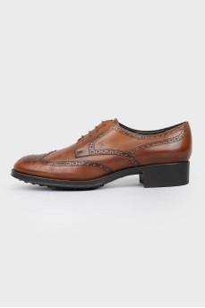 Броги мужские на шнуровке