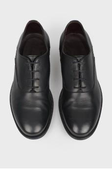 Оксфорды мужские кожаные со вставками