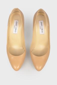 Туфли кожаные на шпильке
