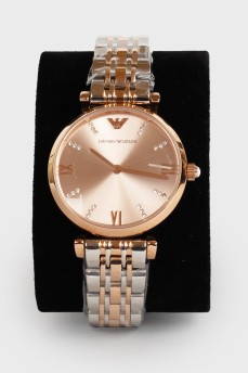 Часы на браслете с камнями с биркой