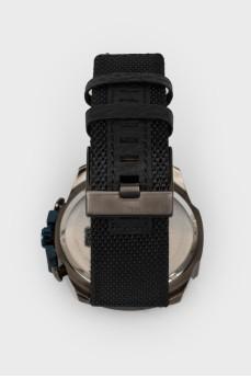 Мужские часы с циферблатом цвета графит с биркой