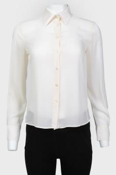 Блуза на пуговицах с длинным рукавом
