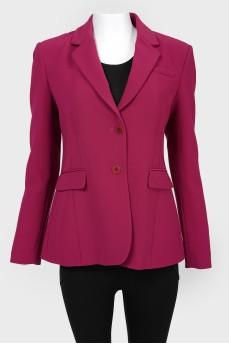 Приталенный пиджак с карманами с биркой