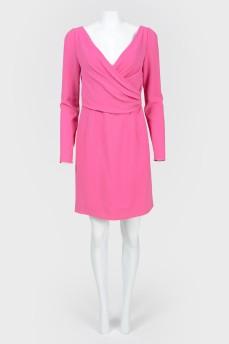 Платье с лифом на запах с биркой
